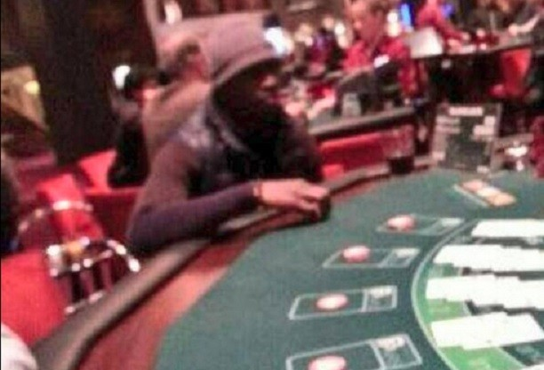 Newcastle fans on Twitter say this is Cisse at Aspers casino