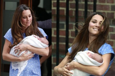 Kate Middleton Makes First Appearance with Royal Baby