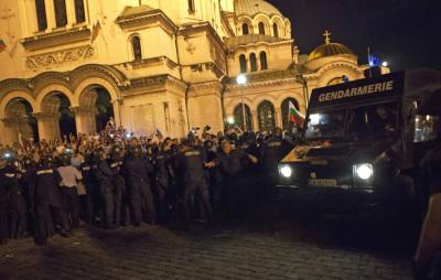 Riot police Sofia