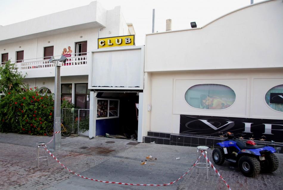 The scene outside the club where Tyrell Matthews-Burton was killed (Reuters)