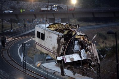 Spain Train Crash Photos