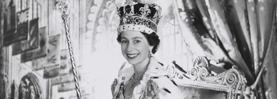 The Queen after coronation on 2 June, 1953