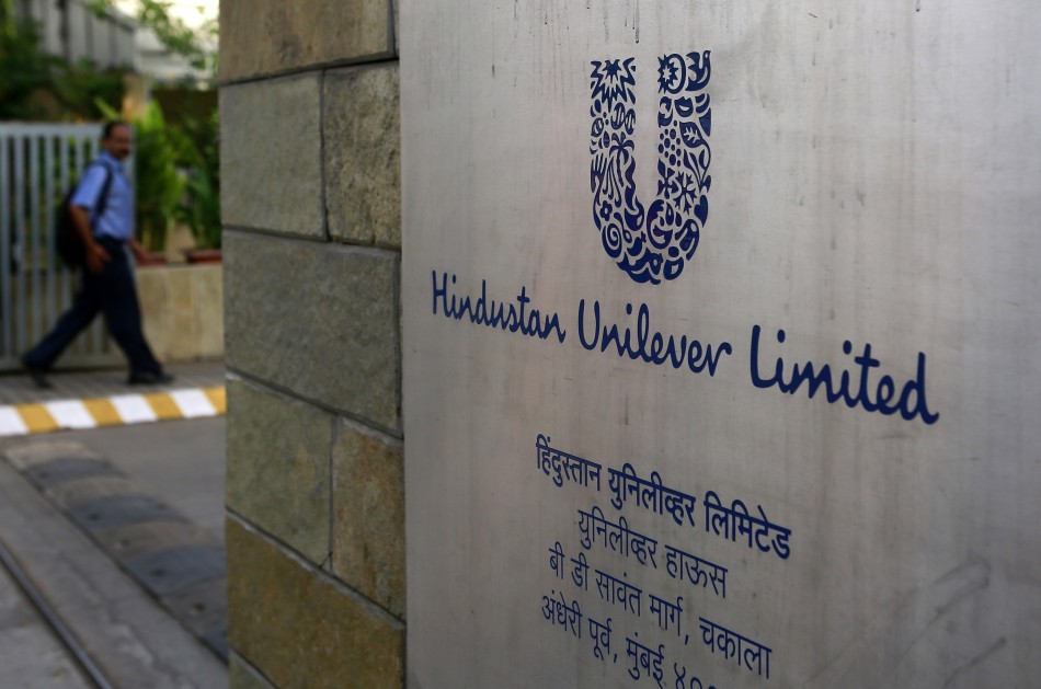 A man arrives at the Hindustan Unilever Limited (HUL) headquarters in Mumbai.