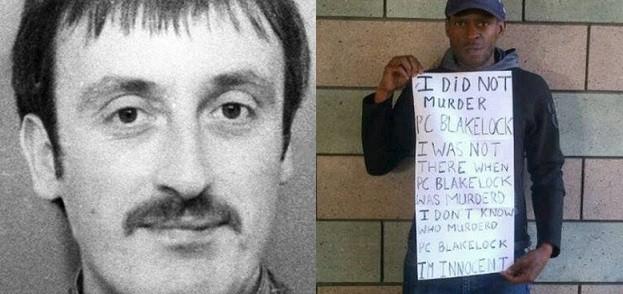 Nicolas Jacobs (R) is accused of killing PC Blakelock in 1985