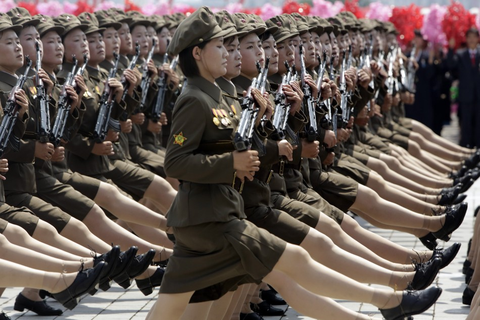 North Korea military parade images