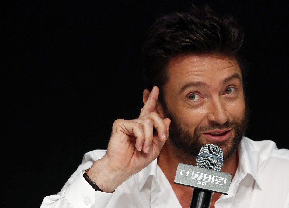 Actor Hugh Jackman speaks during a news conference to promote his new movie The Wolverine at a hotel in Seoul