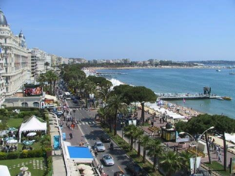 The Croisette Boulavard in Cannes