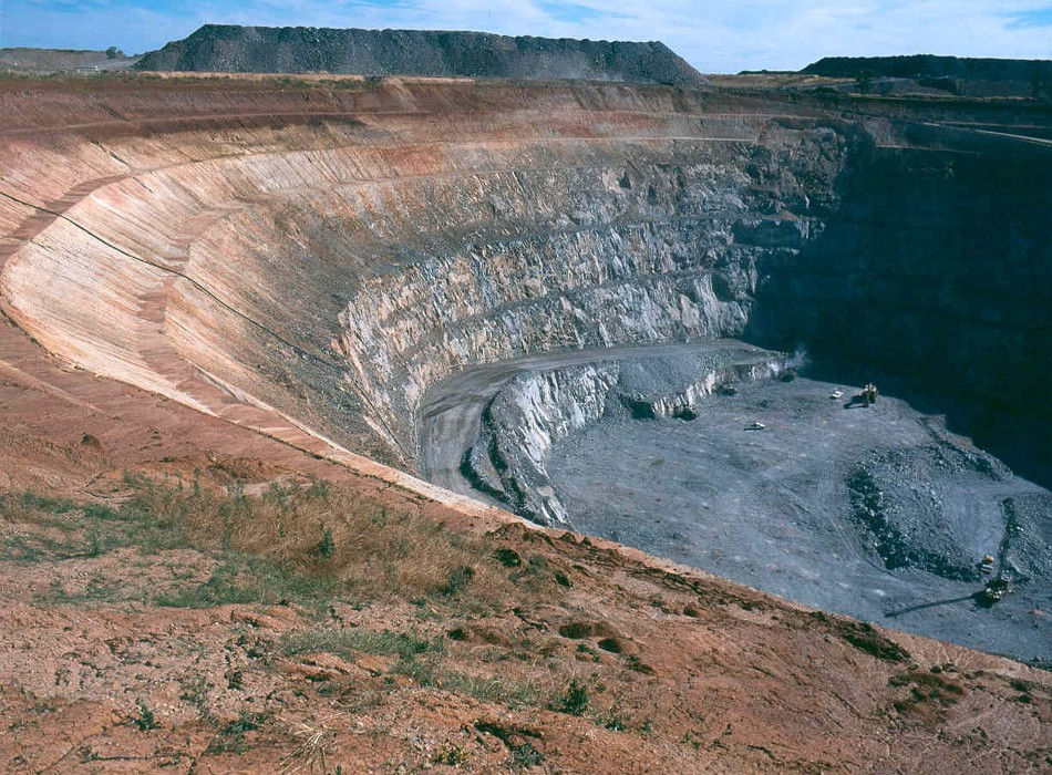 Rio Tinto's Northparkes copper-gold mine in Central West New South Wales.