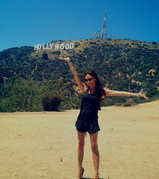 Victoria Beckham shows her love for Hollywood and goes hiking in the hills