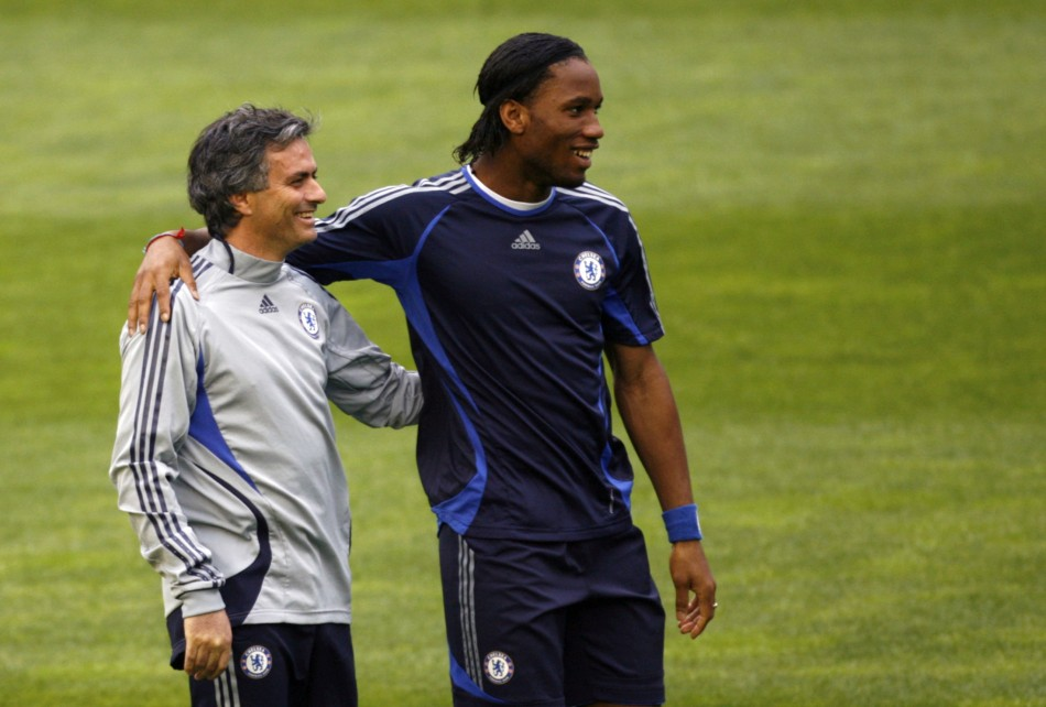Jose Mourinho and Didier Drogba