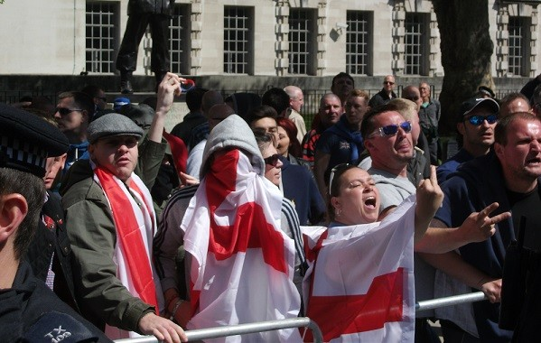 English Defence League and Unite Against Fascism clashed in Whitehall, in May