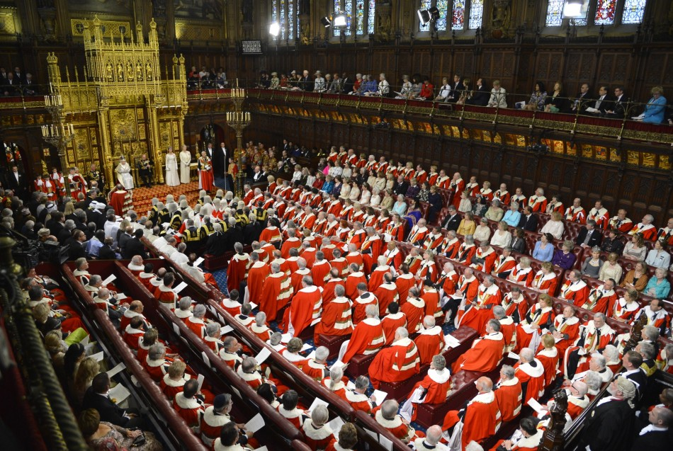 Lords don ermine gowns for the Queen in the 'other place