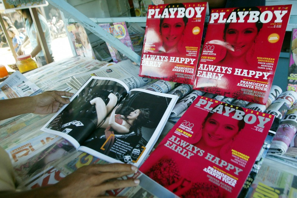 Playboy and Penthouse are among the 891 magazines to be withdrawn from military bases (Reuters)