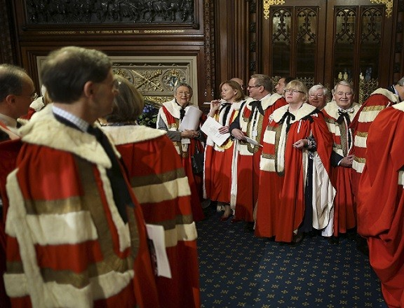 Lords line up for the second chamber