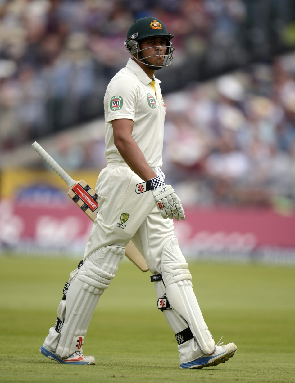 Khawaja leaves the field after being dismissed controversially
