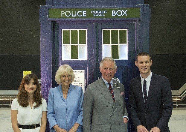 Prince Charles and Camilla get acquainted with Tardis, with Matt Smith