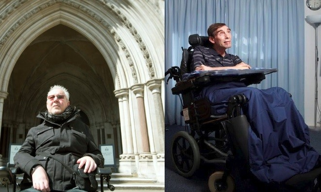 Paul Lamb (L) and Tony Nicklinson (R) (Photos: Reuters)