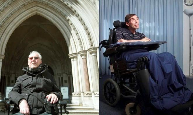 Paul Lamb (L) and Tony Nicklinson (R) (Photos: Reuters)