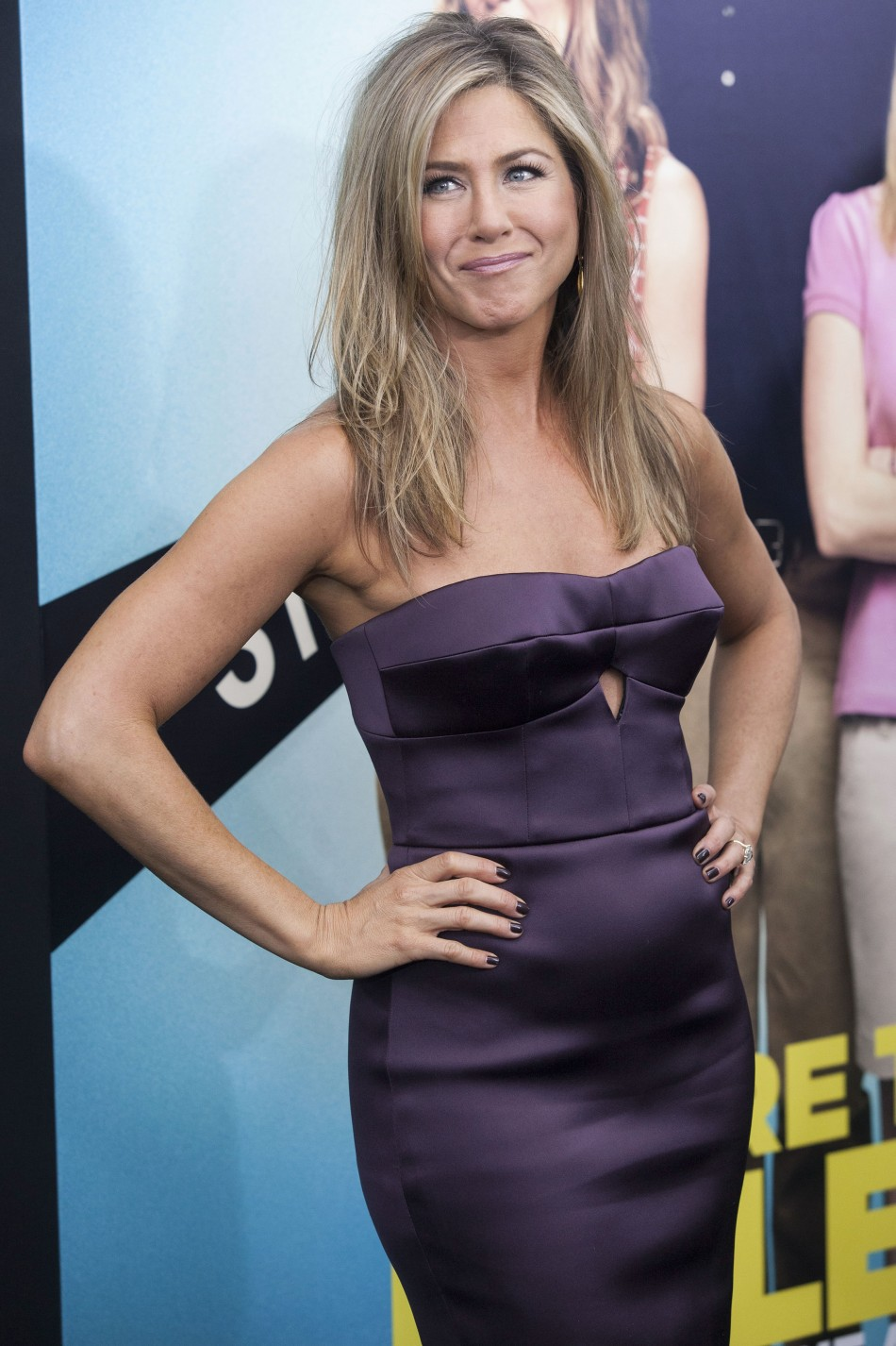 The actress is engaged to Justin Theroux. (Photo: Reuters)