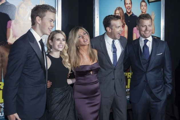 (L - R) Cast members Will Poulter, Emma Roberts, Jennifer Aniston, Jason Sudeikis and director Rawson Marshall Thurber arrive for the premiere of the film