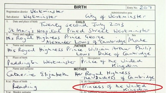 Princess of the United Kingdom? Duchess Kate