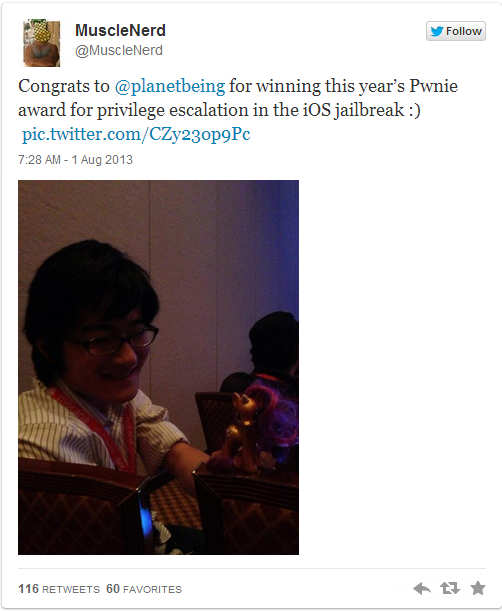 iOS 6 Evasi0n Jailbreak: Planetbeing Wins Pwnie Award for Best Privilege Escalation Bug