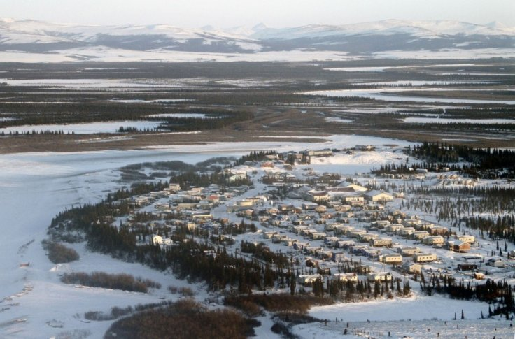 The Inupiat Eskimo village of Noorvik in Western Alaska is seen in this January 24, 2010 handout. Archaeologists have dug an ancient village in northwest Alaska. (Photo: REUTERS)