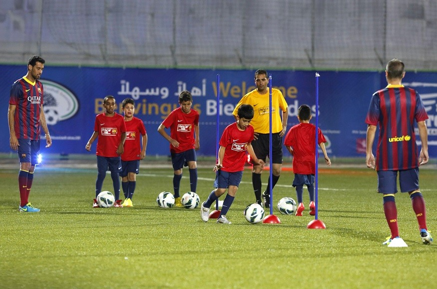 Youngsters put through their paces with Barcelona players