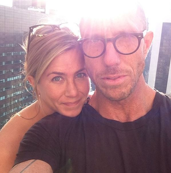 Jennifer Aniston with  longtime hairstylist Chris McMillan