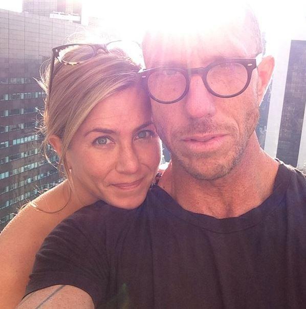 Jennifer Aniston with  longtime hairstylist Chris McMillan