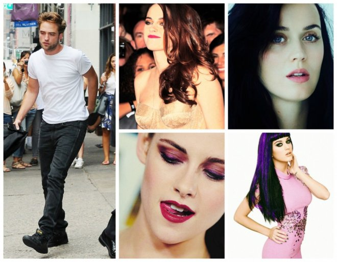 Katy Perry, Kristen Stewart and Robert Pattinson