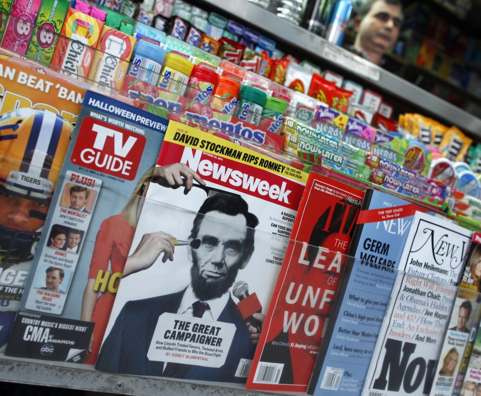 Newsweek printed its last ever magazine in December 2012