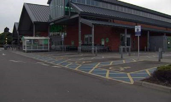 Asda at Biggleswade, where man in row over disabled parking space