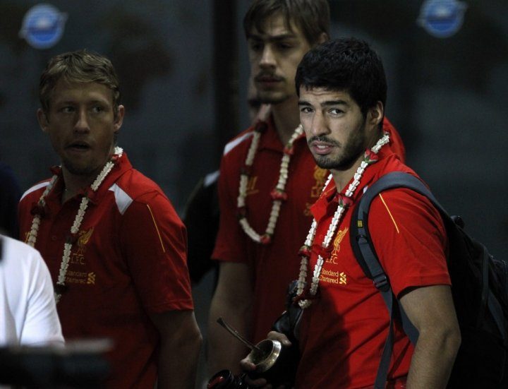 Luis Suarez during Liverpool's tour of Asia. (Photo: Reuters)