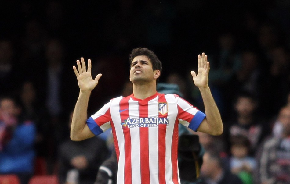 Diego Costa is happy at Atletico. (Photo: Reuters)