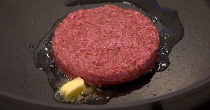The burger was cooked in oil in butter 'like any other burger'