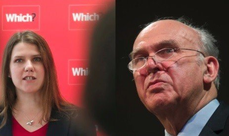 Employment Relations and Consumer Affairs Minister Jo Swinson and Business Secretary Vince Cable (Photos: Reuters)