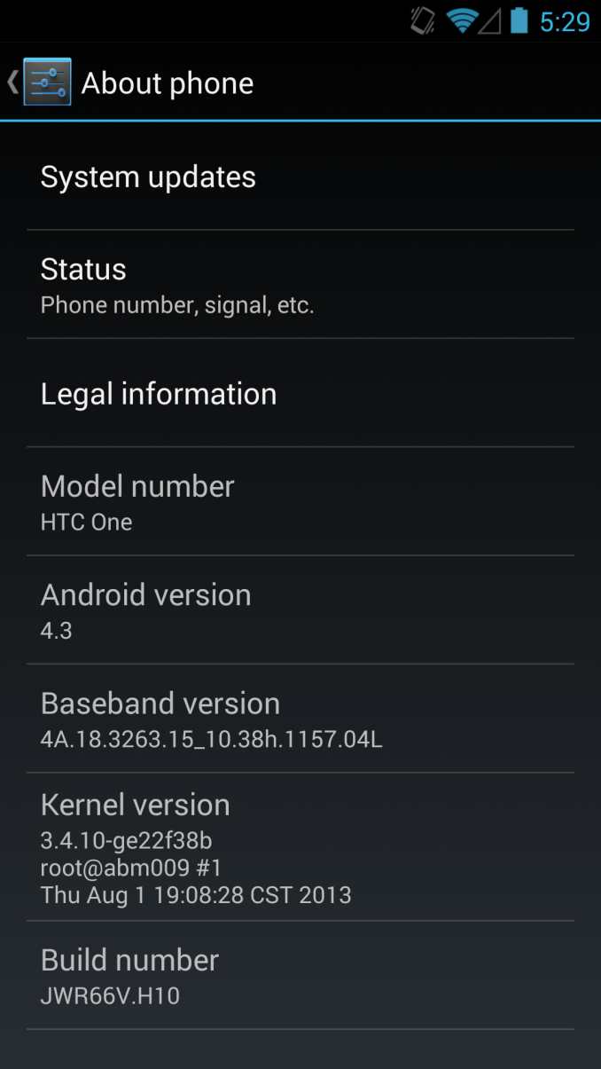 Android 4.3 Jelly Bean OTA