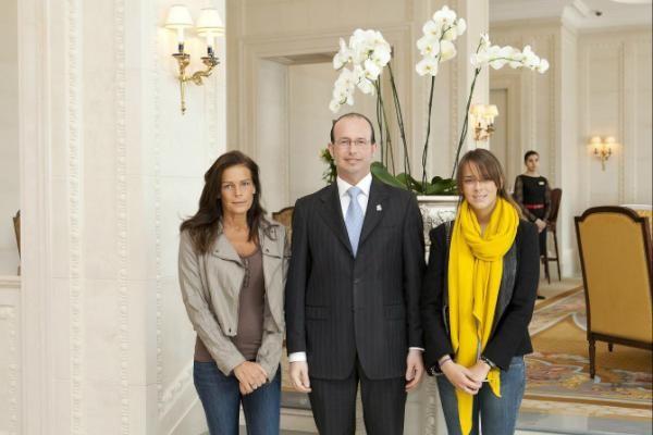 Princess Stephanie and Pauline Decroit of Monaco.