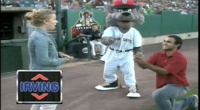Girlfriend Says No to Proposal at Minor League Game