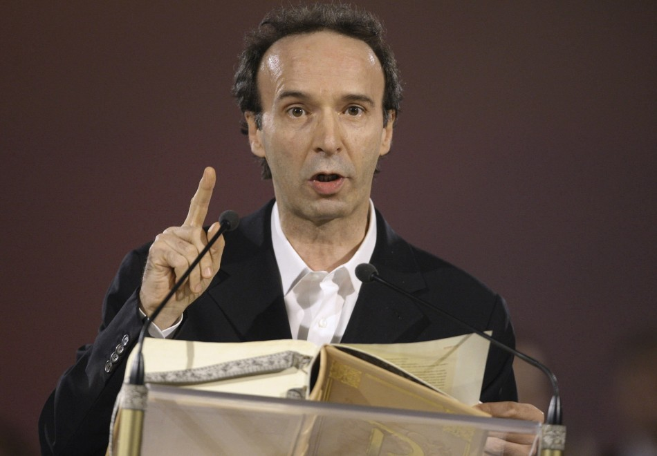 Oscar winning Italian actor and movie director Roberto Benigni