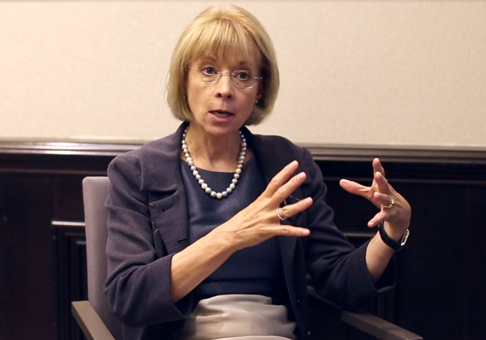 Nancy McKinstry, CEO of Wolters Kluwer and dubbed one of the world's most powerful women in the world by Forbes, speaks to IBTimes UK about challenges getting women into the boardroom (Photo: IBTimes UK)