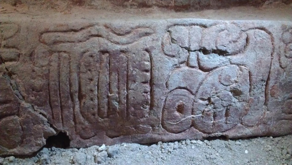 The frieze carries inscriptions of Classic Mayan cities of Naranjo and Tikal. (Photo: Estrada-Belli/© Holmul Archaeological Project)