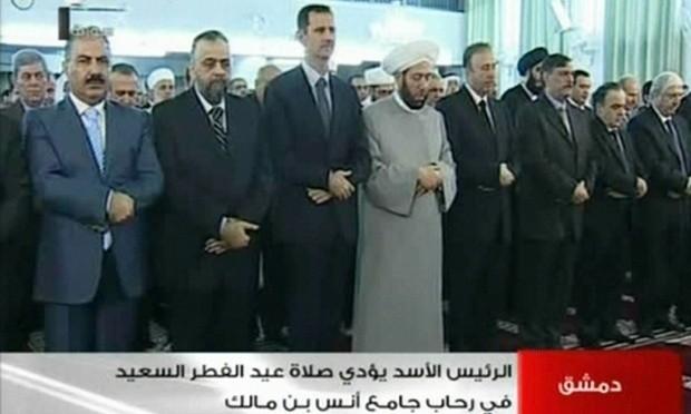 Assad marks end of Ramadan