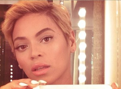 Beyonce shared a snapshot of her pixie haircut