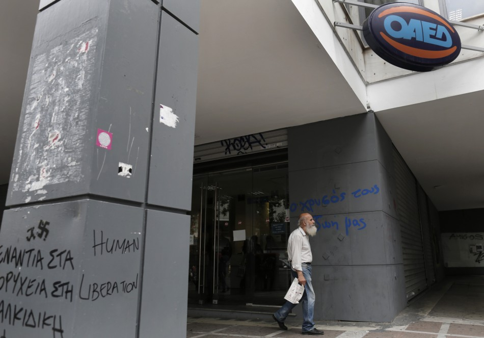 The Greek unemployment rates hits a new high in May, 2013
