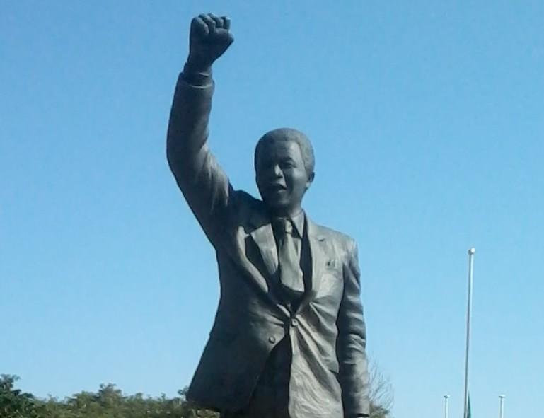 Nelson Mandela's statue