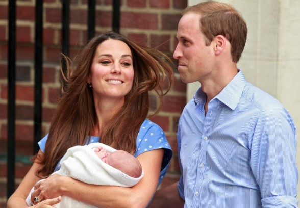 Kate Middleton and Prince William and their baby son George Alexander Louis in July (Photo: Reuters)