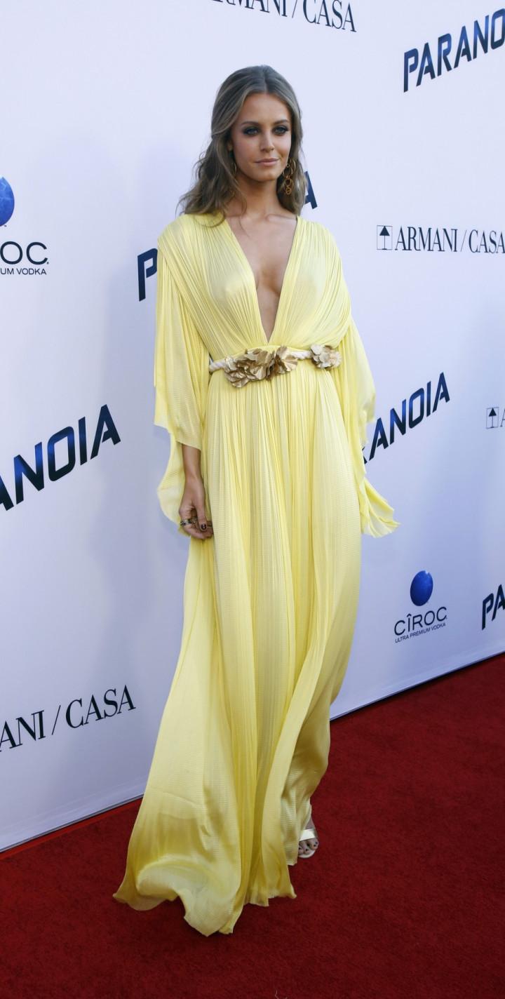 Christine Marzano poses at the premiere of