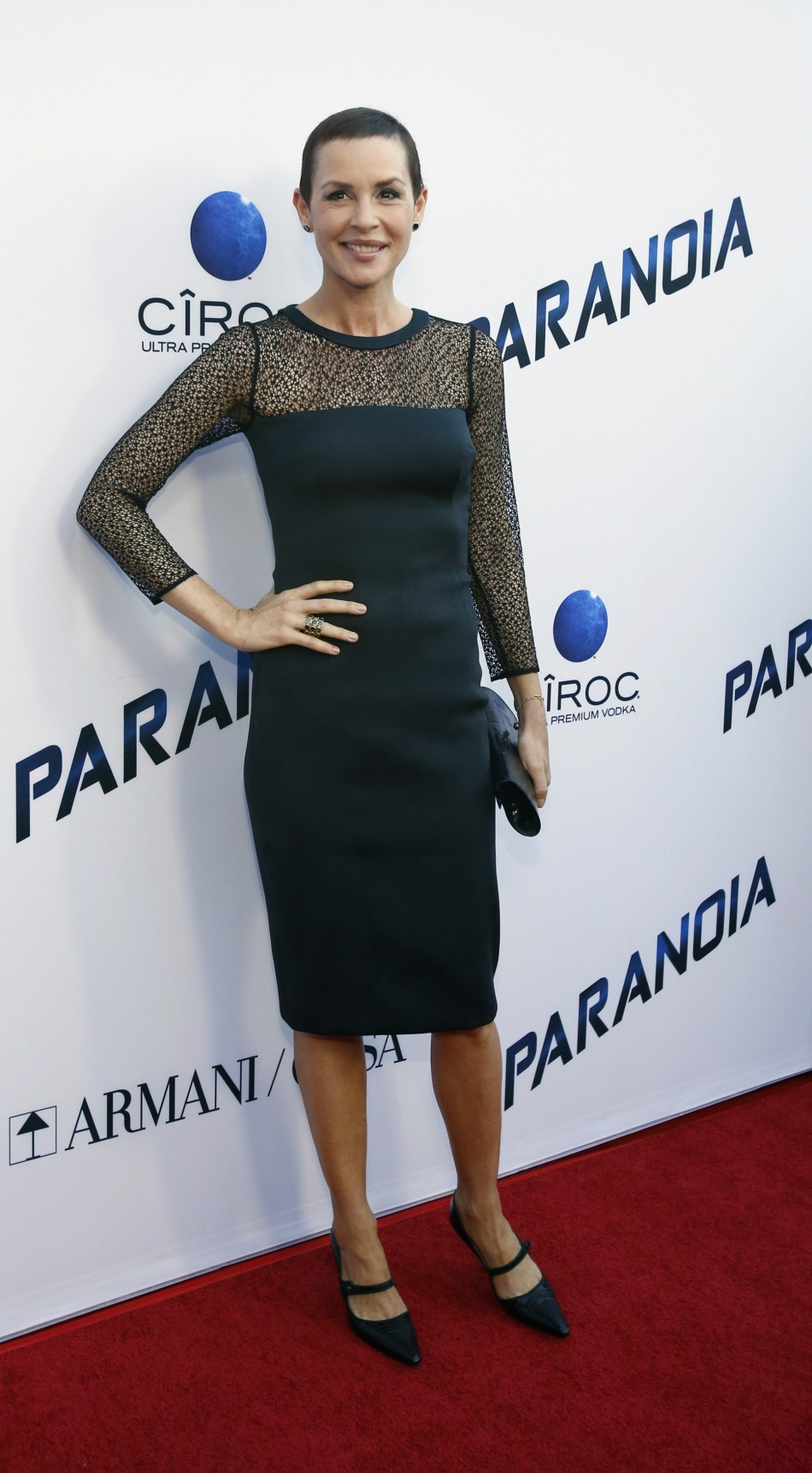 Embeth Davidtz poses at the premiere of